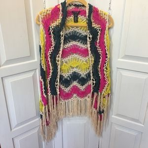 Twenty One Funky Colorful Vest Small